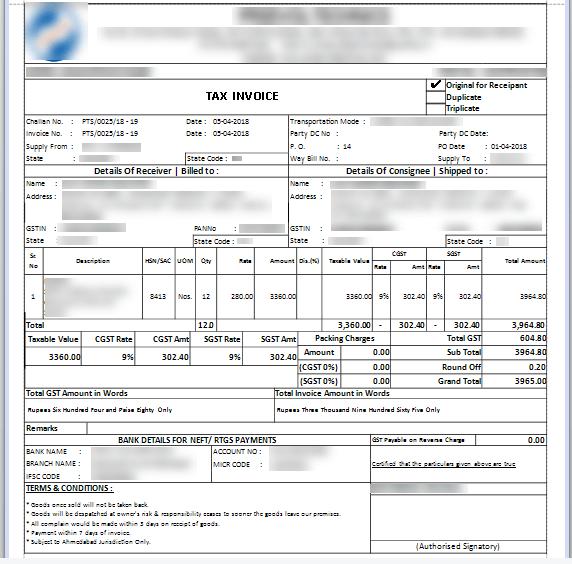 InvoiceReport